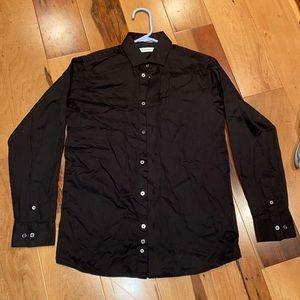 MENS CALVIN KLEIN DRESS SHIRT WORN ONCE SIZE 16
